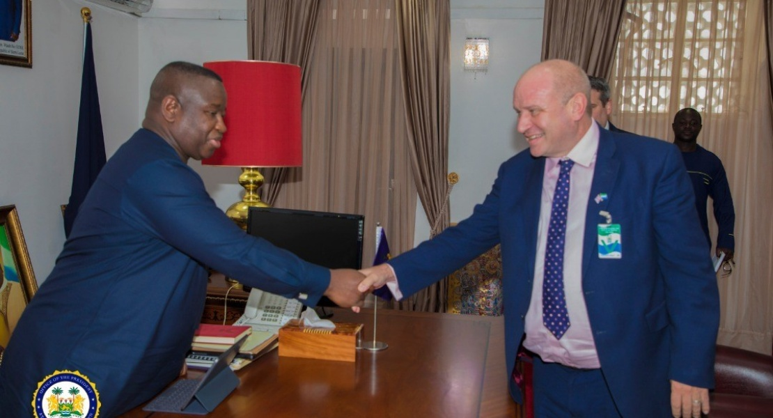 British High Commissioner Bids Farewell to President Dr Julius Maada Bio in Freetown